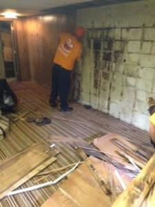 Fire Damage Restoration in Basement
